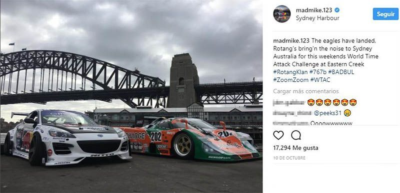 Mad Mike instagram Sydney world time attack 2017